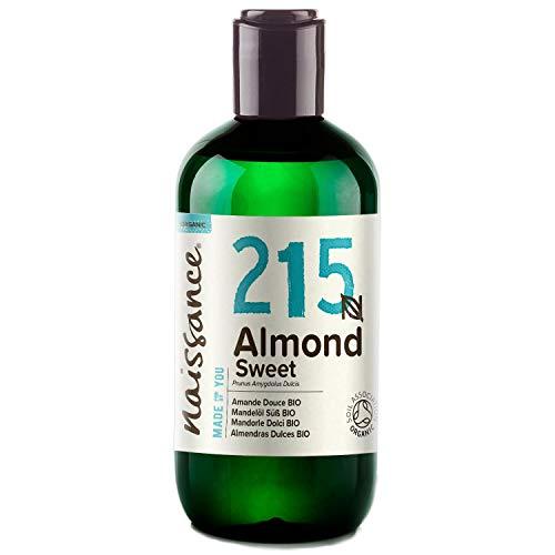 Naissance Mandelöl süß BIO (Nr. 215) 250ml – 100% rein & natürlich, BIO zertifiziert, kaltgepresst,...