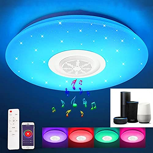 Smart LED Deckenleuchte Farbwechsel, RGB WiFi Deckenlampe mit...