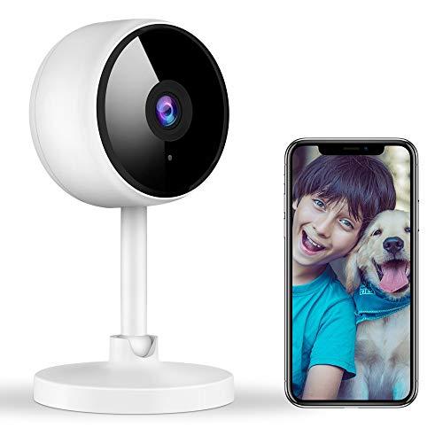 Überwachungskamera Innen, Littlelf Babyphone mit Kamera, WLAN IP-Kamera mit 2-Wege-Audio,1080P...
