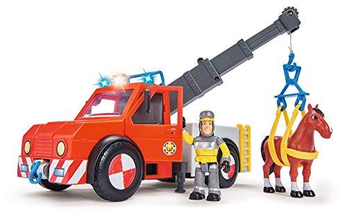 Simba 109258280 - Feuerwehrmann Sam Phoenix mit Figur und Pferd / 23cm / Mit Sam Figur und Pferd /...
