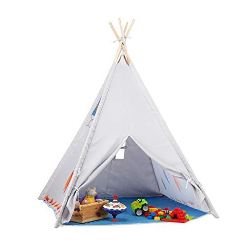 Relaxdays 10022461 Tipi Spielzelt, Tipi Zelt Kinderzimmer, Kinderzelt...