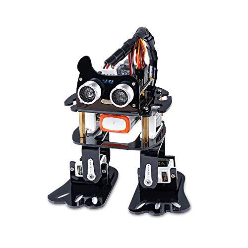 SUNFOUNDER Roboter Kit für Arduino, 4-DOF Sloth Programmierbare DIY Roboterbaukasten für Kinder und...