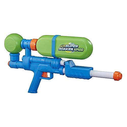 Nerf Super Soaker XP100 Wasserblaster – Wasser-Action mit Druckluft – abnehmbarer Tank – für Kinder,...