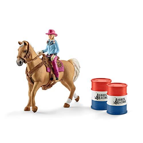 Schleich 41417 Farm World Spielset - Barrel racing mit Cowgirl,...