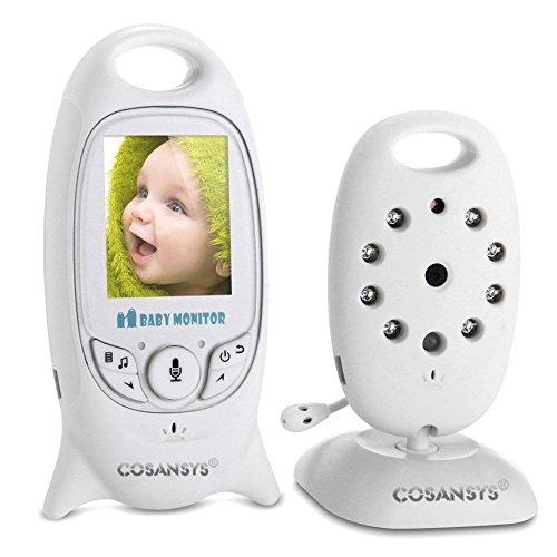 Babyphone mit Kamera Video Baby Monitor Gegensprechfunktion kabellos Digital Überwachungskamera (Schlafmodus,...