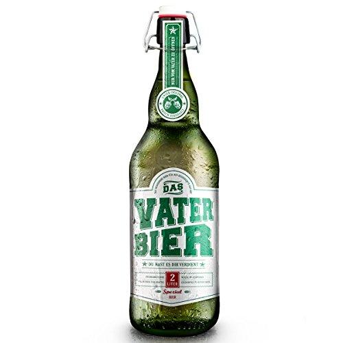 Vaterbier (1x2Liter) Bügelflasche, Geschenke für Männer, Bier...