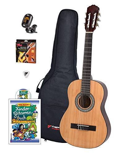 Voggy's Kindergitarren-Set 1/2 - Gitarre für Kinder ab 6 Jahren im...