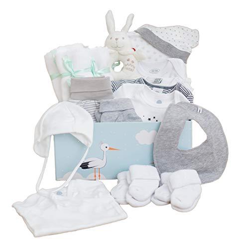 Baby Box als Geschenk zur Geburt Unisex | liebevoll zusammengestellte Babyerstausstattung mit hochwertigen...