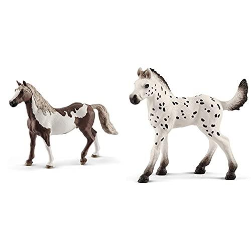 Schleich 13885 - Paint Horse Wallach & 13890 - Knabstrupper Fohlen