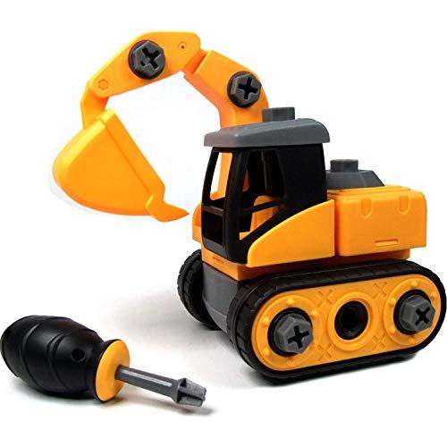 Ucradle Montage Bagger Spielzeug - Spielzeugbagger mit Schraubenzieher, Super Spaß beim Zusammenbauen und...