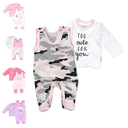 Baby Sweets 2er Baby-Set mit Strampler & Shirt für Mädchen/Baby-Erstausstattung in Rosa-Grau in...