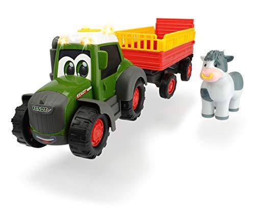 Dickie Toys ABC Fendt Animal Trailer, Traktor für Kinder ab 1 Jahr,...