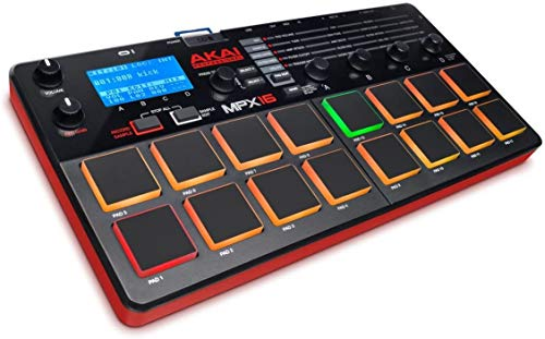 AKAI Professional MPX16 - Portabler Finger Drumming Sample Pad Controller mit 16 Performance Ready Pads &...