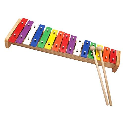 SDENSHI Bunte 15 Tasten Xylophon Hand Percussion für Kleinkind Kids...