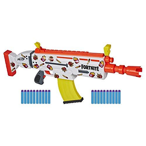 Original Fortnite SCAR - Nerf AR-Durrr Halbautomatik BLASTER im Burger Skin