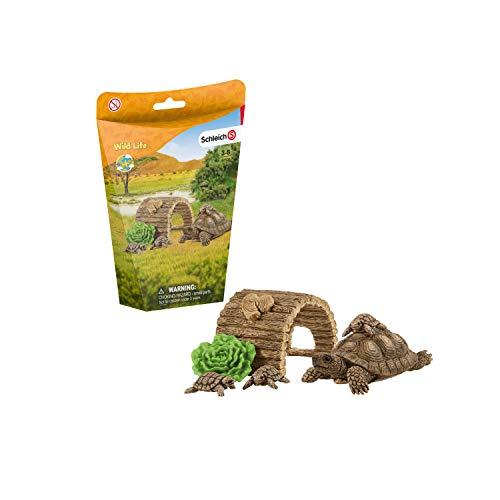 Schleich 42506 Wild Life Spielset - Zuhause für Schildkröten,...