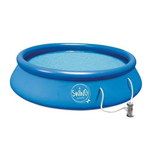 well2wellness® Quick-Up Pool Aufstellbecken Swing Ø366 x 91cm blau...