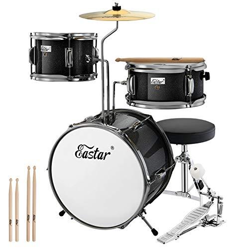Eastar Schlagzeug 14' 3-teilig, Kinder für 3-10 Jahre, Schlagzeug Set...