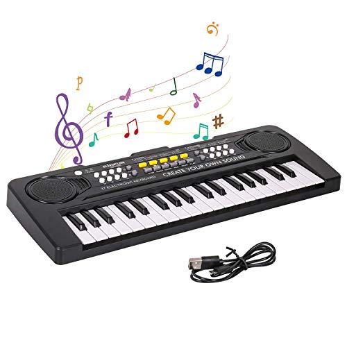 Shayson Digital Piano Keyboard,Mini 37-Tasten Elektronische Klavier...
