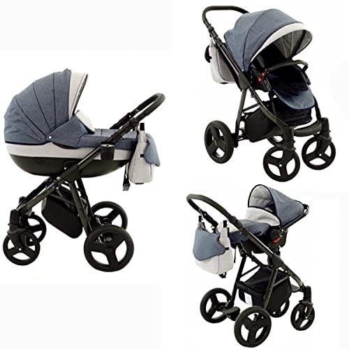 Kinderwagen3in1 Pannenfreie Gelreifen Aluminumgestell Buggy Babyschale...