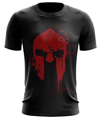 Stylotex ® Fitness T-Shirt Herren Sport Shirt   Spartan Helmet   Gym...
