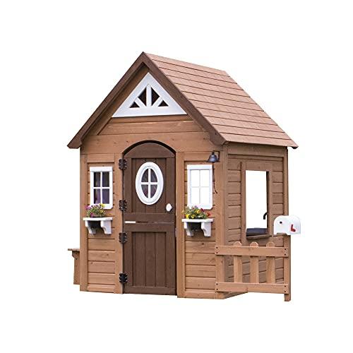 Backyard Discovery Spielhaus Aspen aus Holz | Outdoor Kinderspielhaus...