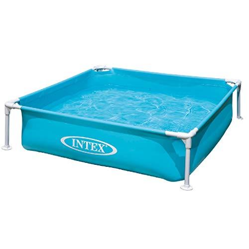 Intex Kinderpool Frame Pool Mini, Blau, 122 x 122 x 30...