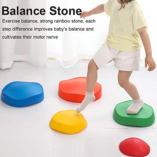 Kids Balance Stepping Stones, 5 Stück Rutschfeste Stapelbare...