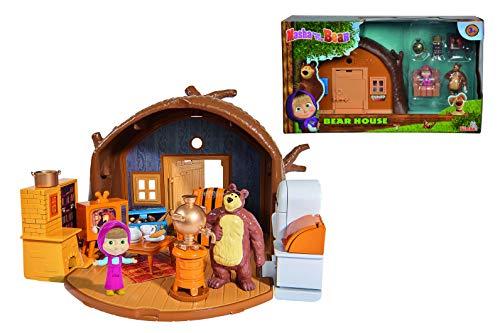 Simba 109301632 - Mascha und der Bär Spielset Bärenhaus zum...