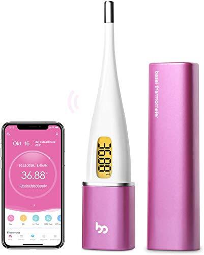 Femometer Vinca II-Basalthermometer Bluetooth zur zykluskontrolle, mit Intelligentes APP (iOS & Android) für...