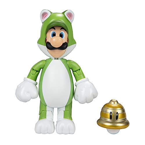 Nintendo 91448 10cm Super Mario Actionfigur 10 cm, Luigi als Katze mit...