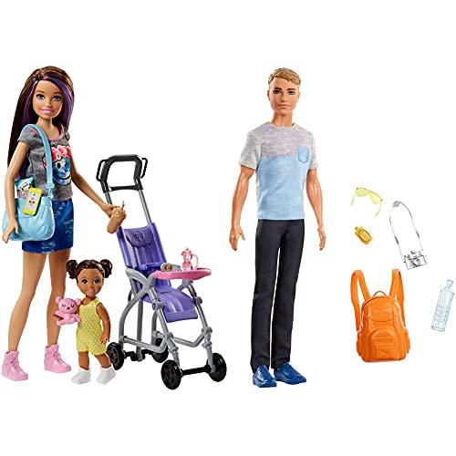 Barbie FJB00 Skipper Babysitters Puppen und Kinderwagen Spielset,...