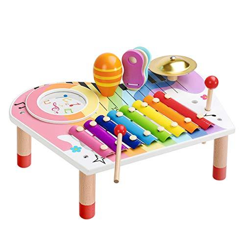 BeebeeRun Baby Musikinstrumente Set, Xylophon Kinder Holz,...