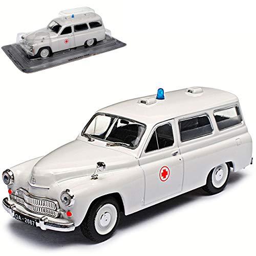 Warszawa 202A Ambulance Krankenwagen Weiss Kombi Rotes Kreuz 1/43...