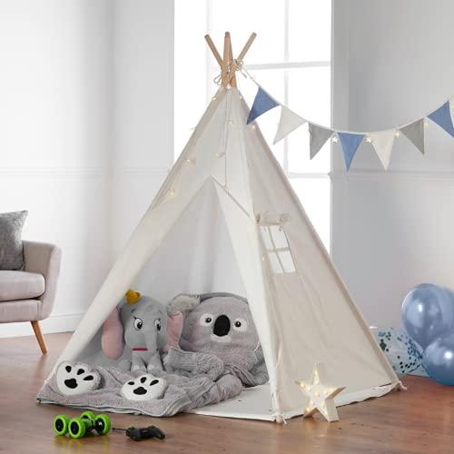 Haus Projekt Tipi Zelt Für Kinder mit Zubehör, Lichterkette,...