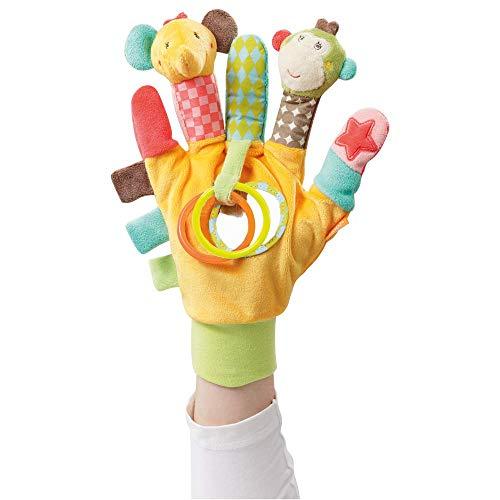 Fehn 074604 Spielhandschuh Safari – Fingerpuppen-Handschuh Affe und...