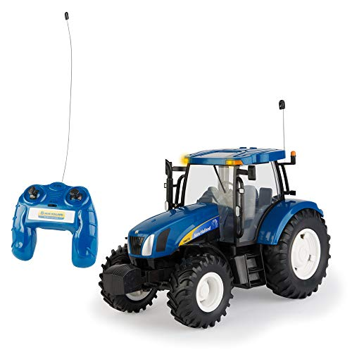 TOMY Britains Spielzeug Traktor 'RC New Holland Big Farm', blau, ferngesteuerter Traktor aus Kunststoff mit...