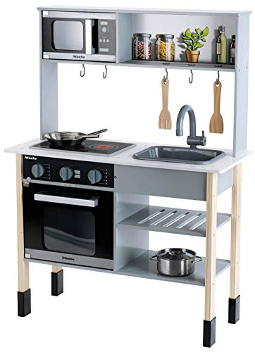 Theo Klein 7199 Miele Küche I Weiße Holzküche inkl....