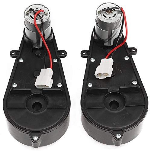 Fransande 2 Stück 550 Universal Kinder Elektroauto Getriebe mit Motor, 12 V DC Motor mit Getriebe,...