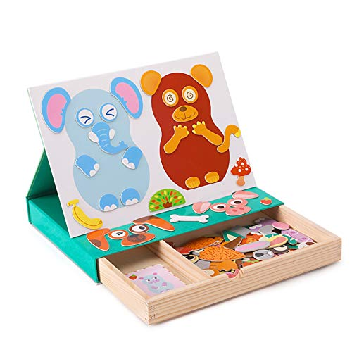 WFF Spielzeug Holzmagnetpuzzle Kinder Lernspielzeug...