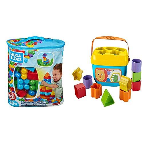 Mega Bloks DCH55 - Bausteinebeutel Medium, 60 Teile, grundfarben &...