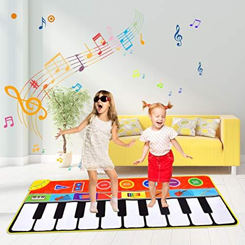 Miavogo Musikmatte für Kinder, Tanzmatte Piano Mat 8 Einstellbare...