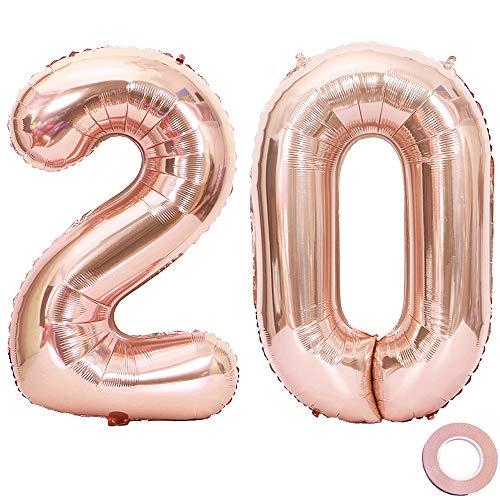 Juland Luftballons 20. Geburtstag XXL Riesen Folienballon Luftballon...