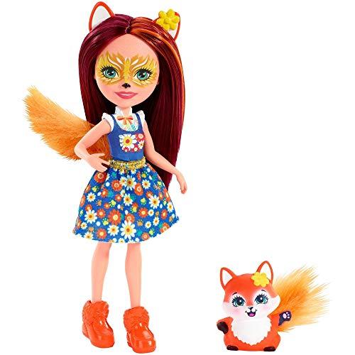 Enchantimals FXM71 - Fuchsmädchen Felicity Fox Puppe und Tierfreund...