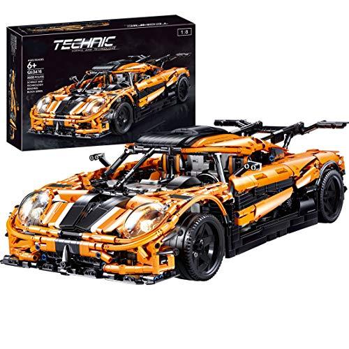 DSXX Technic Supercar Rennwagen-Modell ist ähnlich wie Koenigsegg...
