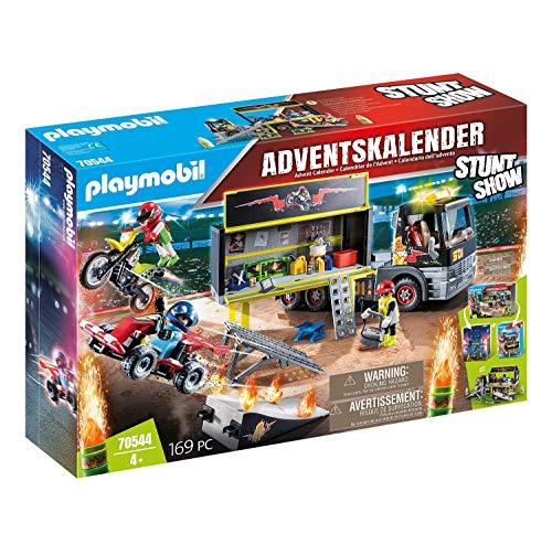 PLAYMOBIL XXL-Adventskalender 70544 Stuntshow, Inklusive LKW, Für...