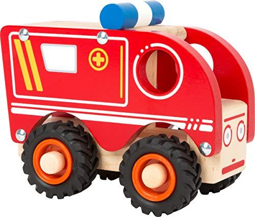small foot 11076 Einsatzfahrzeug Krankenwagen aus Holz, mit...