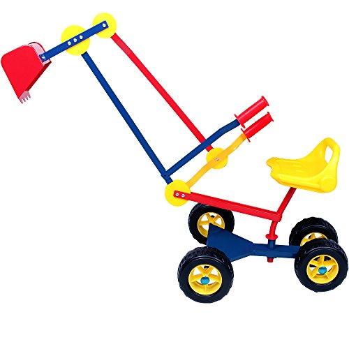 Spielwerk Deuba Kinderbagger Sitzbagger 360 Grad drehbar Kippschaufel...