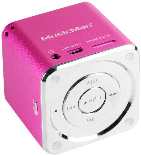 MusicMan Mini Soundstation (MP3 Player, Stereo Lautsprecher, Line In...