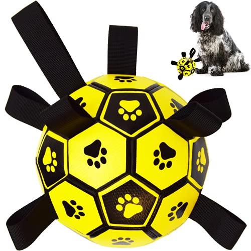 Hundespielzeug – Hundefußball mit Greif-Laschen für interaktives...